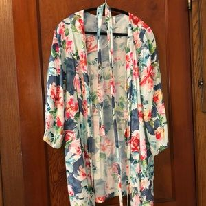 Plum PrettySugar floral robe small